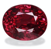 2.01 carat oval-cut Mozambique Ruby