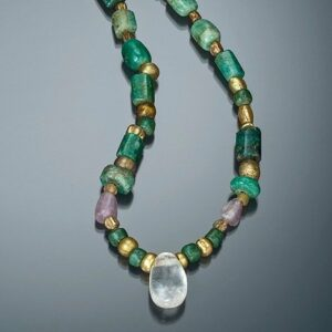 Egyptian emerald necklace